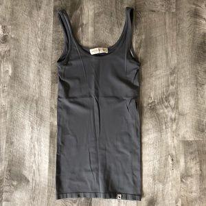 Abercrombie & Fitch gray bodycon stretch tank o/s